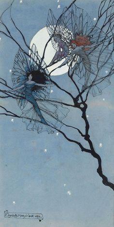 ladylimoges thefae  Moon Fairies by Elizabeth Mary Watts