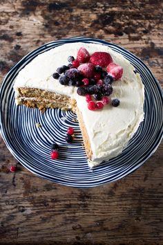 The Best Vegan Vanilla Cake with Berries | Veggie Desserts