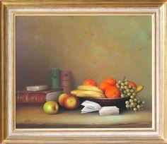 Früchteschale mit Büchern 72 x 60