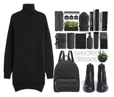 """""""Cozy and Cute: Sweater Dresses"""" by deserii ❤ liked on Polyvore featuring Ash, CB2, SELECTED, NARS Cosmetics, Holga, Alicia Adams, GHD, Lux-Art Silks, Nearly Natural and Radley"""