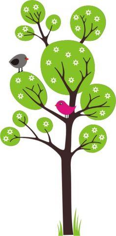 fali matrica - tavaszi fa , Dekoráció, Otthon, lakberendezés, Meska