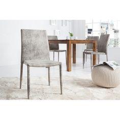 Jídelní židle Como šedá antik - 2