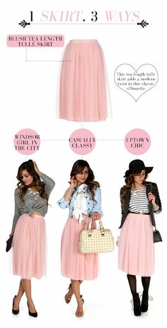 awesome Jupon en tulle : Windsor: 3 WAY THURSDAY: The Blush Tulle Skirt