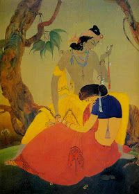 Mohammad Abdur Rahman Chughtai - was a painter and intellectual from Pakistan, who created his own unique, distinctive painting style influenced by Mughal art, miniature painting, Art Nouveau and Islamic art traditions. Working Drawing, Figure Drawing, Indian Arts And Crafts, Gallery Of Modern Art, Indian Artist, Artist Gallery, Islamic Art, Asian Art, Art Nouveau