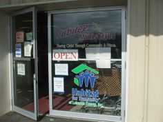 Both store partners are acknowledged. Habitat for Humanity.