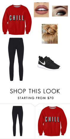 """""""Netflix and Chill 2"""" by fashionista-dxliv on Polyvore featuring True Religion, NIKE, NYX, women's clothing, women, female, woman, misses and juniors"""