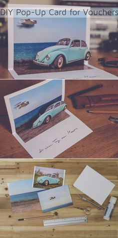 "A personally designed pop-up card is a perfect gift, so I decided to show you how you can easily create them. Join the ""DIY Bloggers for Volkswagen"" board on Pinterest for more inspiring DIYs from different bloggers. https://de.pinterest.com/volkswagen/diy-bloggers-for-volkswagen/"