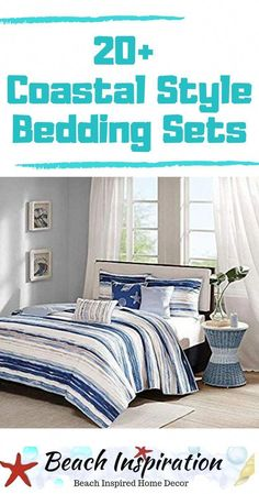 20 Coastal Bedding Sets For Beach Themed Bedroom Coastal Bedding Sets For Beach Themed Bedroom. Check out these beautiful beach bedding sets perfect for bringing a little ocean inside your home. Beach Bedding Sets, Coastal Bedding, Coastal Bedrooms, Comforter Sets, Luxurious Bedrooms, Luxury Bedding, Beach Living Room, Bedroom Beach, Beach Room