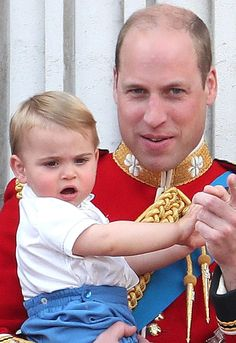 Prince William Photos - Prince Louis and Prince William, Duke of Cambridge during Trooping The Colour, the Queen's annual birthday parade, on June 2019 in London, England. - Trooping The Colour 2019