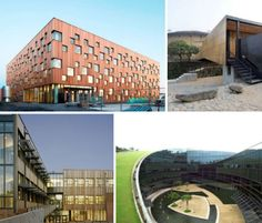 Sustainable Schools: 14 Smart Green Learning Facilities - WebEcoist This. Cultural Architecture, Sacred Architecture, Education Architecture, School Architecture, Sustainable Architecture, Residential Architecture, School Building Design, Building Designs, Sustainable Schools