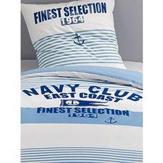Parure housse de couette + taie d'oreiller Navy Cl VERTBAUDET
