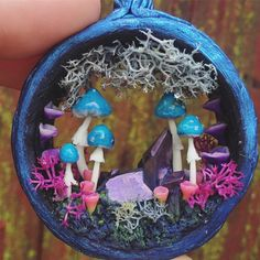 Blue amanita magic portal necklace Christmas is coming✨☺️ Etsy shop update December 15th 4:20 pm ☺️ . . . #magic #amanita #blue #mushrooms #fungi #metaphysical #crystals #spiritual #channelledcreations #skyrim #worldofwarcrat #fantasy #etsy #fimo #art #jewelry #handmade #love #beauty #nature #wearableart #psychedelic #420