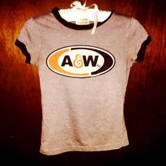 Sweet & Sour Tops - Vintage A&W Root Beer Tee A&w Root Beer, Tee Shirts, Tees, Vintage Tops, Bell Bottoms, Nostalgia, T Shirts For Women, Denim, Mens Tops