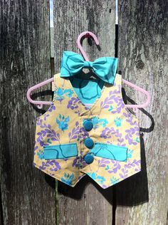 Reversible Children's Vest with Matching Bow by vintagetwilight