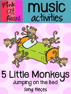 5 little monkeys jumping on the