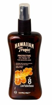 HAWAIIAN TROPIC PROTECTIVE DRY SPRAY OIL 200ML SPF 8 Hawaiian Tropic, Health And Beauty, Household, Fragrance, Tropical, Oil, Cooking Oil, Butter, Perfume