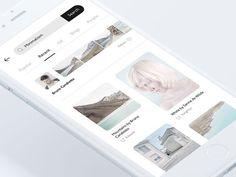 Mobile Blog App — Discover screen: