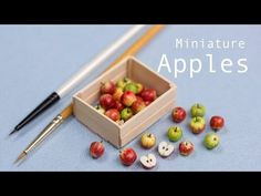 Miniature Apples in their Crate // Polymer Clay Miniature Food Tutorial