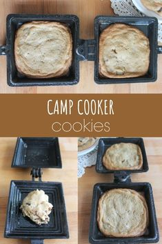 These camp cooker cookies are an easy and tasty treat to make while camping. Check out the recipe and find tips for perfect camping cookies. Camping Meal Planning, Camping Meals, Camping Recipes Lunch, Mountain Pies, Pie Iron Recipes, Camping Cookies, Dutch Oven Cooking, Pie Iron Cooking