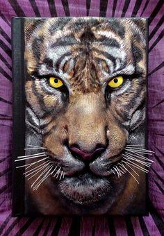 Ojos del tigre revista de arcilla de polímero por ClaymanPL en Etsy