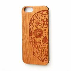 A personal favorite from my Etsy shop https://www.etsy.com/listing/265036910/skull-iphone-5s-case-iphone-6s-plus-case