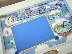FRESH FROM HEAVEN Baby Boy Keepsake Box with by theshadowbox