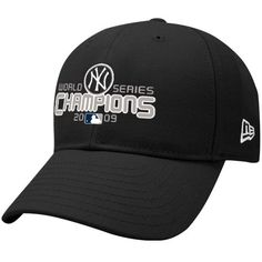 New Era New York Yankees Black 2009 World Series Champions Wool Blend Structured Adjustable Hat