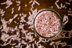 Shockingly Simple Homemade Strawberry Sprinkles - all natural, preservative, high fructose & dye free