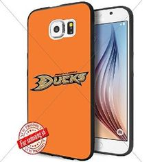 Anaheim Ducks NHL Logo WADE7625 Samsung s6 Case Protection Black Rubber Cover Protector