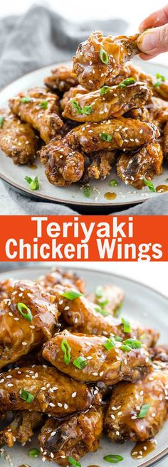 Teriyaki Chicken Wings - baked chicken wings with sticky sweet and savory teriyaki sauce. These wings are crowd pleaser and perfect for busy weeknights! @foodiegavin