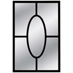 """Bassett Kendall 20"""" x 30"""" Black Wall Mirror"""