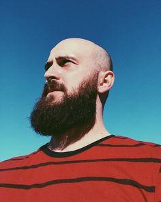 Bald Men With Beards, Bald With Beard, Shaved Head With Beard, Shaved Heads, Hair Locks, Beard Styles, Bearded Men, Boyfriend Material, Beautiful Men