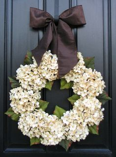 Hydrangea Wreaths Fall Wedding Decor Wedding by twoinspireyou