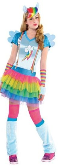 a63313c1e25a4 Teen Girls Rainbow Dash Costume - My Little Pony - Party City