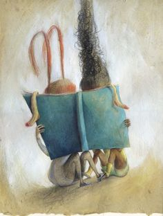 Who's behind this book? Positive Art, Library Art, Encaustic Art, Children's Book Illustration, Art Illustrations, Book Images, I Love Books, Artist Art, Character Concept
