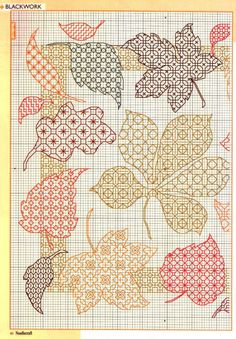 Thrilling Designing Your Own Cross Stitch Embroidery Patterns Ideas. Exhilarating Designing Your Own Cross Stitch Embroidery Patterns Ideas. Fall Cross Stitch, Cross Stitch Pillow, Cross Stitch Flowers, Cross Stitch Charts, Cross Stitch Designs, Cross Stitch Patterns, Leaf Patterns, Motifs Blackwork, Blackwork Cross Stitch