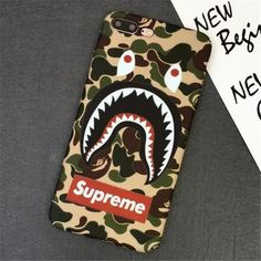 Camo Supreme x Bape Shark iPhone Phone Case