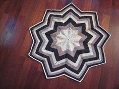 Ravelry: 9 pointed Round Ripple with Solid Center pattern by Michelle Storms Free crochet pattern