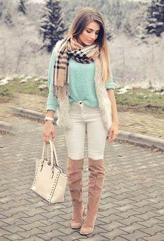 ¡Botas de invierno! Outfits con botas de invierno
