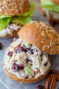 Sweet cranberries, toasted pecans, Dijon mustard and Greek yogurt are the secret ingredients that make this chicken salad a fall favorite! Its perfect for special occasions, lunch or even dinner!