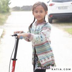 Jacket - Kids - Autumn / Winter - models & patterns | Katia.com Winter Kids, Summer Kids, Fall Winter, Spring Summer, Autumn, Lana, Patterns, Knitting, Sweaters