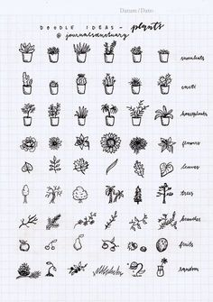 Doodle ideas 1 - plants Remember when I asked you what should I do with the remaining pages of my bujo? Well, the most suggested thing was to do some doodle ideas, which I did, yaay :D. Now I know a...