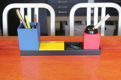 Desk Set Inspired by Vintage Toys & Bauhaus Colors in style fashion main home furnishings  Category
