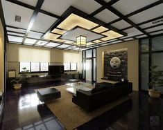 Japanese Inspired Living Room Interior Design