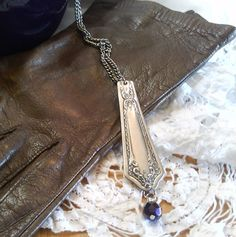 Repurposed Decorative Vintage Silverware Necklace D11A3 There is beauty in each and every piece that I work with