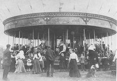 Funfair, Blackheath, circa 1904.