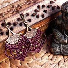 #macrame #QuetzArt #jewelry #macrameearrings #handmadejewelry  https://www.etsy.com/listing/251927965/macrame-earrings-tribal-earrings-boho?ref=listing-shop-header-3
