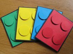 Lego party invitations from PolkaDotCardz on Etsy