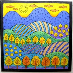 25 ideas landscape art for kids lesson plans student Fall Art Projects, School Art Projects, Club D'art, Landscape Art Lessons, Fall Landscape, Landscape Artwork, Classe D'art, Wal Art, Art Populaire