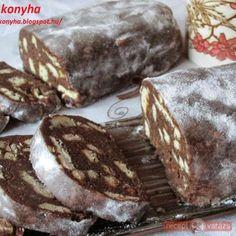Keksz szalámi - keksz tekercs